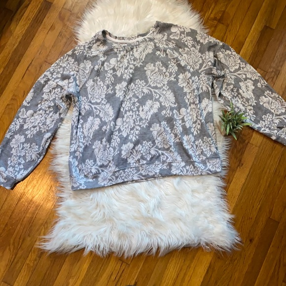 Women's Know Rose Floral Crew Neck Sweater
